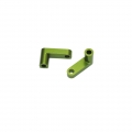 "CNC Machined Aluminum Rear Chassis ""L"" Brackets for Slash 2wd LCG conversion kit (Green) 1 pair"