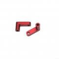 "CNC Machined Aluminum Rear Chassis ""L"" Brackets for Slash 2wd LCG conversion kit (Red) 1 pair"