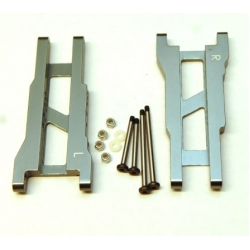 STRC Aluminum Rear A-arm set for Traxxas Stampede/Rustler (1 pair) Gun Metal