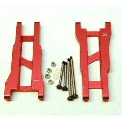 STRC Aluminum Rear A-arm set for Traxxas Stampede/Rustler (1 pair) Red