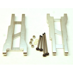 STRC Aluminum Rear A-arm set for Traxxas Stampede/Rustler (1 pair) Silver