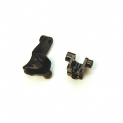 CNC Machined Alum. Front Lower Shock Mount (1 pair) for Traxxas TRX-4 (BK)