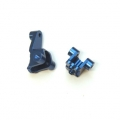 CNC Machined Alum. Front Lower Shock Mount (1 pair) for Traxxas TRX-4 (Blue)