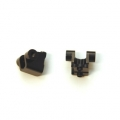 CNC Machined Alum. Rear Lower Shock Mount (1 pair) for Traxxas TRX-4 (BK)