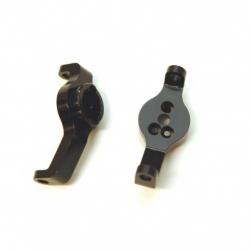 CNC Machined Aluminum Front Axle Caster Blocks (1 pair) for TRX-4 (Black)