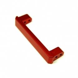 CNC Machined Alum. Heavy Duty Rear Bumper Eliminator Brace, TRX-4 (Red)