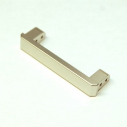 CNC Machined Alum. Heavy Duty Rear Bumper Eliminator Brace, TRX-4 (Silver)