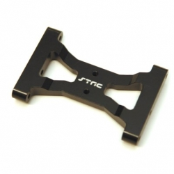 CNC Machined Alum. Solid one-piece HD rear chassis brace for TRX-4 (BK)