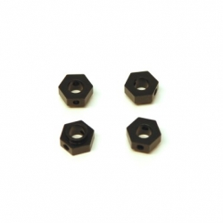 CNC Machined Aluminum Hex Adapters (4 pcs) TRX-4 (Black)