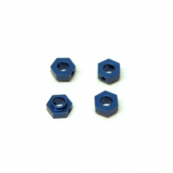 CNC Machined Aluminum Hex Adapters (4 pcs) for 4Tec 2.0 (Blue)