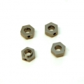 CNC Machined Aluminum Hex Adapters (4 pcs) TRX-4 (Gun Metal)