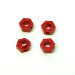CNC Machined Aluminum Hex Adapters (4 pcs) TRX-4 (Red)