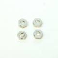 CNC Machined Aluminum Hex Adapters (4 pcs) for 4Tec 2.0 (Silver)