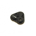 CNC Machined Aluminum Center Gearbox Housing Cover for TRX-4 (Black)