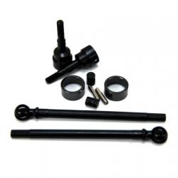 STRC Heat Treated Carbon Steel Universal kit for Axial SCX10 (1 pair) Gun Metal