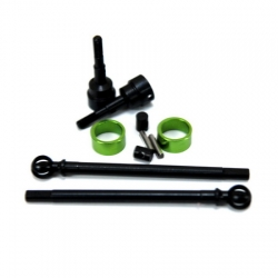 STRC Heat Treated Carbon Steel Universal kit for Axial SCX10 (1 pair) Green