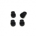 CNC Machined Aluminum Upper Shock Caps (4pcs) for Vaterra Ascender, Black