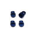 CNC Machined Aluminum Upper Shock Caps (4pcs) for Vaterra Ascender, Blue