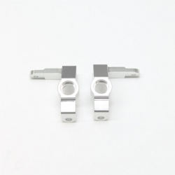CNC Machined Aluminum Front Steering Knuckles for Ascender/Bronco (Silver) 1 pair