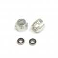 CNC Machined Alum. Rear Lock-outs for Vaterra Ascender w/5x11mm oversize bearing (S)
