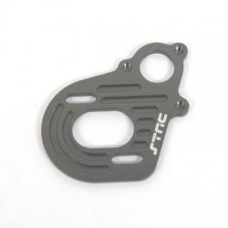CNC Machined Alum. Motor Plate (w/longer motor screw slots) Axial Wraith/AX10/SCX10 Gun Metal