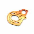 CNC Machined Alum. Motor Plate (w/longer motor screw slots) Axial Wraith/AX10/SCX10 (Orange)