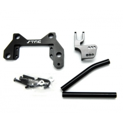 CNC Machined Alum. Off-Axle servo Mount + Panhard kit for Axial Wraith (Black)
