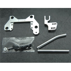 CNC Machined Alum. Off-Axle servo Mount + Panhard kit for Axial Wraith (Silver)