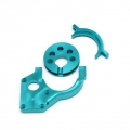 CNC Machined Aluminum Center Motor Mount and Motor Cam combo for Yeti (Blue)