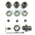 CNC Machined Aluminum 17mm Hex Adapter Kit for Axial Wraith, AX10 Deadbolt (1 set, 4 pcs) GM