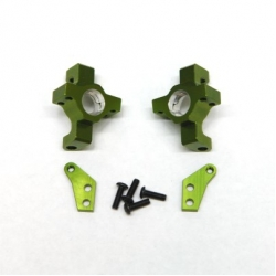 CNC Machined Alum. Steering Knuckle (1 pair) for RR10 Bomber, Wraith, SMT10 (Green)