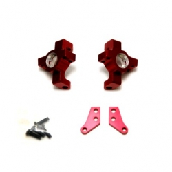 CNC Machined Alum. Steering Knuckle (1 pair) for RR10 Bomber, Wraith, SMT10 (Red)