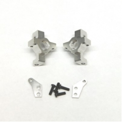 CNC Machined Alum. Steering Knuckle (1 pair) for RR10 Bomber, Wraith, SMT10 (Silver)