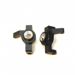 CNC Machined Aluminum Ver.2 HD Steering Knuckle (1 pair) for RR10 Bomber, Wraith, SMT10 (BK)