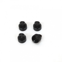 CNC Machined Alum. Shock Caps for Axial Wraith (4 pcs) Black