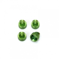 CNC Machined Alum. Shock Caps for Axial Wraith (4 pcs) Green