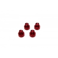 STRC Axial Wraith Limited Edition Red Anodized Shock Caps (4 pcs)
