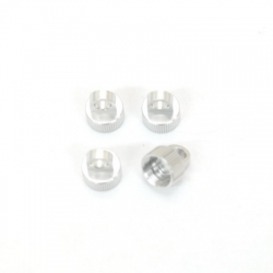 CNC Machined Alum. Shock Caps for Axial Wraith (4 pcs) Silver