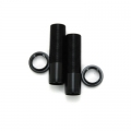 CNC Machined Shock Bodies & Spring Collars (w/o-ring) for Axial Wraith (1 pair) Black