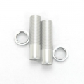 CNC Machined Shock Bodies & Spring Collars (w/o-ring) for Axial Wraith (1 pair) Silver