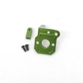 CNC Machined Alum. Transmission Back Plate for Axial Wraith (Green)