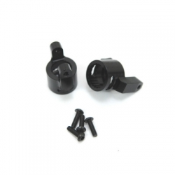 CNC Machined Precision Alum. C-Hubs for Axial Wraith (1 pair) Black