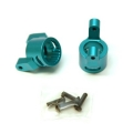 CNC Machined Precision Alum. C-Hubs for Wraith, RR10 Bomber, SMT10 (1 pair) Blue