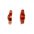 CNC Machined Alum. Internal Diff Holders (1 pair) for Axial Wraith Orange
