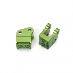 CNC Machined Alum. HD Bottom Shock Mounts (1 pair) for Axial Wraith (Green)