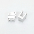 CNC Machined Alum. HD Bottom Shock Mounts (1 pair) for Axial Wraith (Silver)