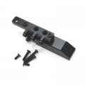 CNC Machined HD Alum. Front Servo Mount Block/Upper link mount, Axial Wraith (Black)
