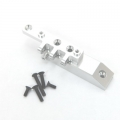 CNC Machined HD Alum. Front Servo Mount Block/Upper link mount, Axial Wraith (Silver)