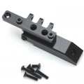 CNC Machined HD Alum. Rear Upper Link Mount, Axial Wraith (Black)