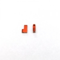 CNC Machined Aluminum Servo Mounts (1 pair) for Axial Wraith (Orange, Limited)
